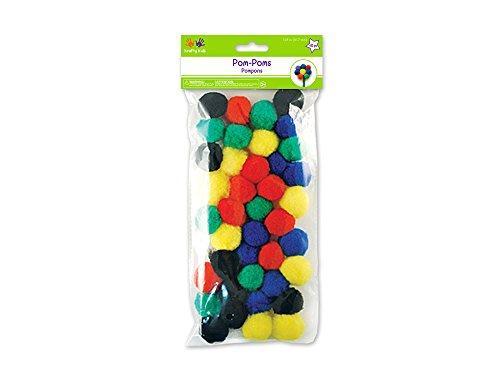 MULTICRAFT IMPORTS Pompons, 3,2 cm, 40 par paquet, couleurs primaires