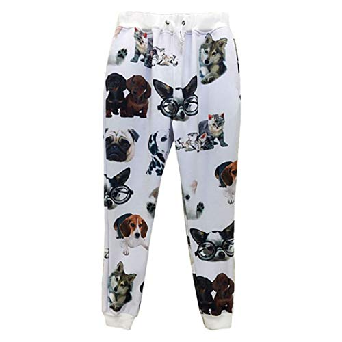 Men Joggers Pants 3D Sweatpants Print Animal Characters Lion Wolf Cat Snake Dog Graphic Loose Casual Trousers Animal Funny Pants06 S