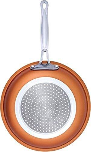 HUOGUOYIN Padella Antiaderente Padella Antiaderente Copper Red Pan Ceramica Skillet induzione Padella Casseruola Forno e Lavabile in lavastoviglie 10 Pollici Padella Antiaderente (Color : 10 Inches)