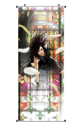 Großes Final Fantasy VII Rollbild | Kakemono aus Stoff | Poster 100x40cm | Motiv: Tifa Lockhart