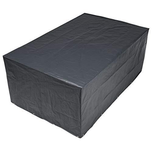 Housse de protection salon de jardin rectangle 8 places 325x205 cm gris/noir GRAPHITE noir