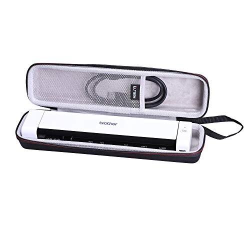 LTGEM Hard Case for Brother DS-640 & DS-740D Duplex Compact Mobile Document Scanner- Protective Carrying Storage Bag
