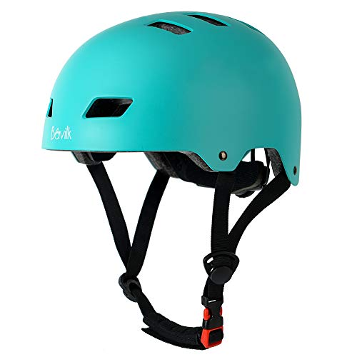 Bavilk Skateboard Bike Helmets Multi Sports Scooter Inline Roller Skating 3 Sizes Adjustable for Kids Youth Adults Mint Green M