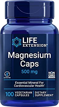 Life Extension Magnesium Caps 500 mg – Essential Mineral Blend For Cardiovascular & Whole-Body Health – Gluten-Free Non-GMO Vegetarian -100 Vegetarian Capsules