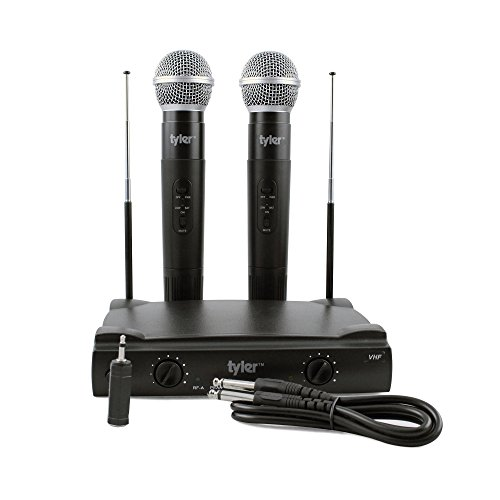 Tyler TWM301 Dual VHF Wireless Microphone System, Two (2) Microphones, Fixed Frequency