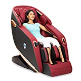 JSB MZ24 3D Massage Chair Zero Gravity with Bluetooth Music Connect, Dedicated Foot & Calf Massage & Heat (Maroon-Black)