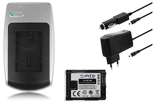 Ladegerät + Akku BP-808 für Canon FS10, FS11, FS21, FS22, FS31, FS40, FS100
