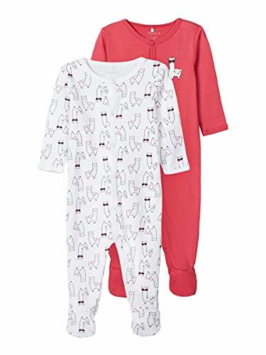 NAME IT NBFNIGHTSUIT 2P W/F Claret Alpaca Noos Ftbol, Color Rojo, 52 para Niñas