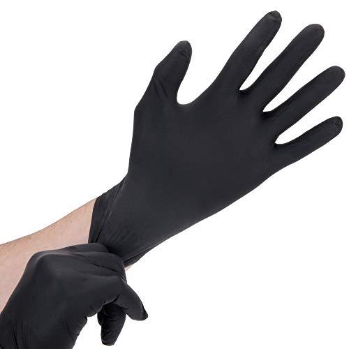 Industrial Nitrile 6 Mil Thick Heavy-Duty Powder-Free Textured Gloves (Medium)