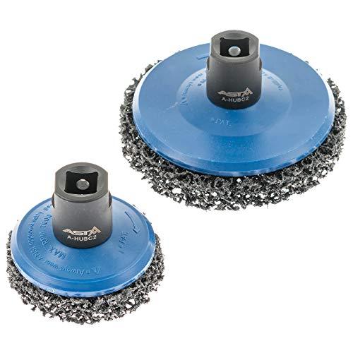 ASTA A-HUBC2 | Radnabenschleifer Set - Reinigungsscheiben Aufsatz für Auto Radnabe