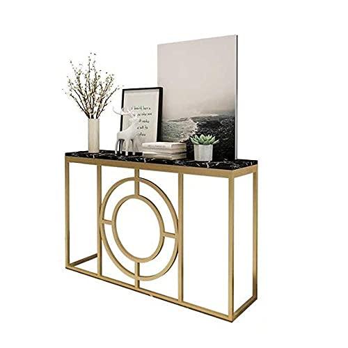 Tavolino Consolle In Marmo Moderna Entrata Del Corridoio Armadietto Portaoggetti Decorazione Soggiorno Tavolino Laterale - 80X30X80Cm (Colore: 01)