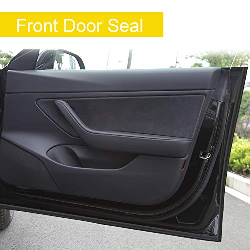 SAILEAD Replacement for Tesla Model 3 Door Seal Kit, Soundproof Rubber Seal Strip Kit Model 3 Accessories, Wind Noise Reduce, Dirt Reduce, Weatherstrip Noise Reduction Kit (Left & Right Side)