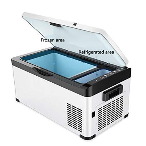 Fridge- ZGM Kompressor Gefrierschrank Auto Kühlschrank Kühlbox Auto LKW verwenden 12V / 24V / 220V Mini kleinen Kühlschrank Obst, Getränk, Wein für Reisen Camping Picknick 20L , weiß