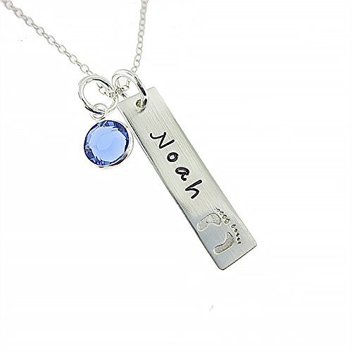My Tiny Prints Personalized Sterling Silver Name Necklace. Customize with Child's Name,...