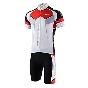Lixada Maillots de Ciclismo Hombres Verano y Pantalones Cortos Conjunto de Ropa para Ciclismo al Aire Libre