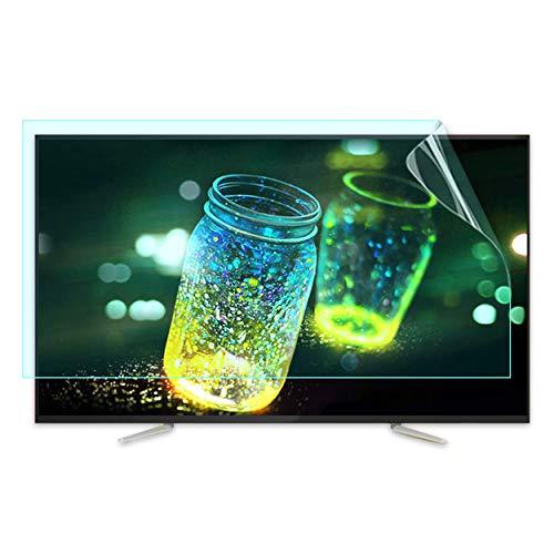 Bueuwe Protector de Pantalla de TV Anti-UV HD, Película de Filtro de Pantalla Anti Azul Claro y deslumbramiento. para 32-75 Pulgadas LCD, LED, OLED & QLED 4K HDTV,70' 1561 * 900mm