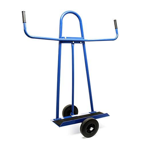 Carrello portapannelli carichi fino a 340kg 2 ruote in gomma piena trasporto di pannelli ingombranti