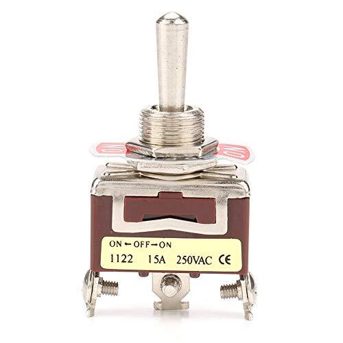 Interruptor de palanca, tamaño compacto, 3 posiciones, interruptor de palanca 15A 250VAC para electrodomésticos de automóviles