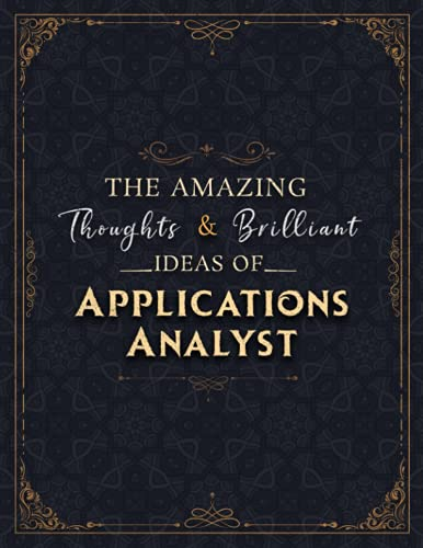 Applications Analyst Sketch Book - The Amazing Thoughts And Brilliant Ideas Of Applications Analyst Job Title Cover Notebook Journal: Notebook for ... 8.5 x 11 inch, 21.59 x 27.94 cm,...