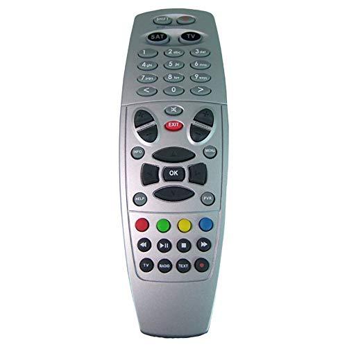 Anka de Digital para Mando a Distancia para DREAMBOX 500HD/800SE/7020hd/7025+ 8000HD Sat & Cable con PVR botón & PVR Funciones Plata Remote Control con 3Filas