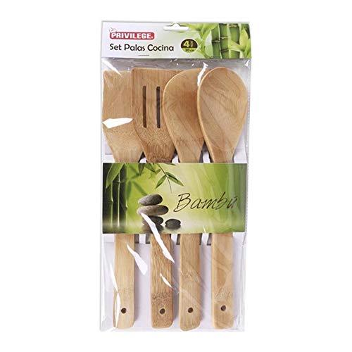 LCQI Set Utensilios Cocina Bambú