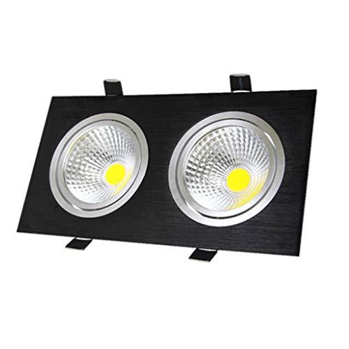 WRMOP dubbelplafond LED-schijnwerper voor rooster, open fontein met paneellicht, voor badkamer, kantoor, hal, R/19/12/28