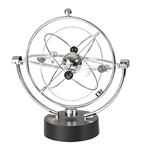 Office World Globe, Swivel Globe Orbit Spinner - Kinetische Orbital rotierende Physik Science Toy Gadget Ideal for alle Büros, Home Schlafzimmer Klassenzimmer Dekoration for Desktop Office Home Dekora