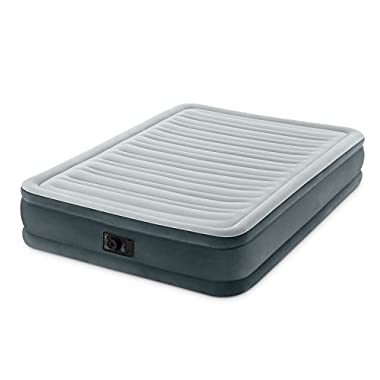 Intex Comfort Plush Mid Rise Dura-Beam Airbed with Built-in Electric Pump, Bed Height 13 , Full