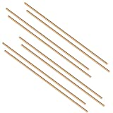 Eowpower 8pcs Brass Solid Round Rods Lathe Bar Stock Kit, 1/8 Inch in Diameter 14 Inches in Length