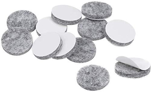 BGGQDG Almohadillas de muebles duraderos Adhesivo Fieltro Pastillas de fieltro de 20 mm DIA 3MM PROTECTOR DE PISO REDONDO REDONDO 32PCS