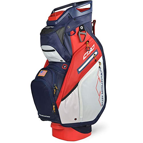 Sun Mountain C-130 Cart Bag Golf Navy/White/Red USA 2020 New, 14-Way Divided