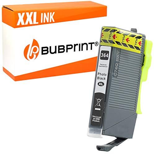 Bubprint Druckerpatrone kompatibel für HP 364XL 364 XL für PhotoSmart 7520 e-All-in-One B8550 C5380 C6380 D5460 Premium C309g C310a C410b Foto Schwarz