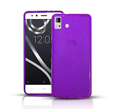 Todobarato24h Funda Gel Lisa Morada Compatible con BQ AQUARIS E5 HD FHD