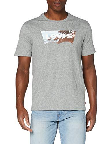 Levi's Herren Housemark Graphic T-Shirt, Ssnl Hm Photo Tee Mid Tone Gray Heather, S