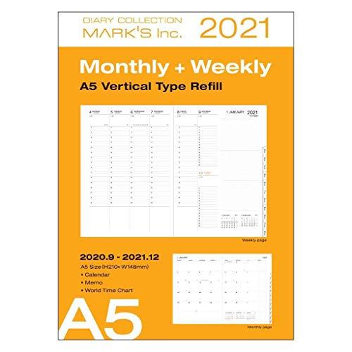 Mark's Europe 2020/2021, A5 Vertical Type - Recambio de papel para impresora (tamaño A5), color blanco