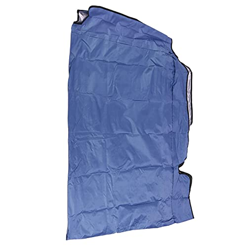 SHYEKYO Guard Protector, Garden Swing Chair Cover Shade The Sun Reißfestigkeit für den Garten im Freien(Blue, Three Seats 190 * 132 * 15cm)