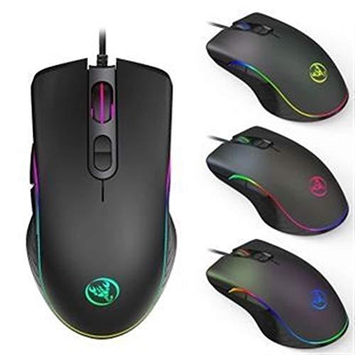 ZNYD Wired Gaming Mouse 7200dpi Programme Macro Définition Gamer de qualité Professionnelle Souris RVB Souris Optique Filaire for Ordinateur Portable (Color : A869)