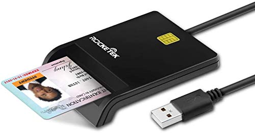 Cardreader USB,USB-Chipkartenleser Smart Card Reader DOD Militärischer CAC-Kartenleser mit öffentlichem Zugriff Adapter/ID-Karte/IC-Bank-Chipkarte Kompatibel mit Windows XP/Vista /7/8/10, Mac OS