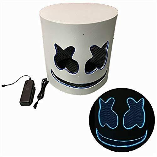Cozywind Halloween Máscara LED para Cosplay,DJ, Fiestas, Festivales, Disfraces, Máscaras de Cabeza Completa para Adultos y niños. (Azul)