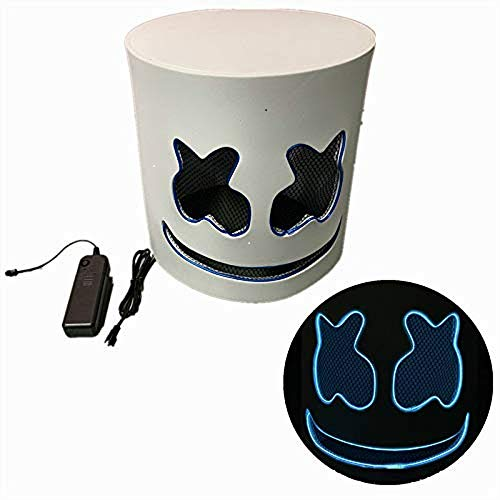 Cozywind DJ Maske LED Musikfestival Leuchten Maske Partymaske Elektronik Masken mit 3 Blitzmodi für Halloween Kostüm Party Cosplay Bar, Batterie Angetrieben (Blau)