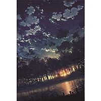 木製パズル大人用ジグソー1000個、空の風景パズル,挑戦的な難しいゲームのおもちゃ,アールデコの壁画,子供のクリエイティブギフト,75cmx50cm,003