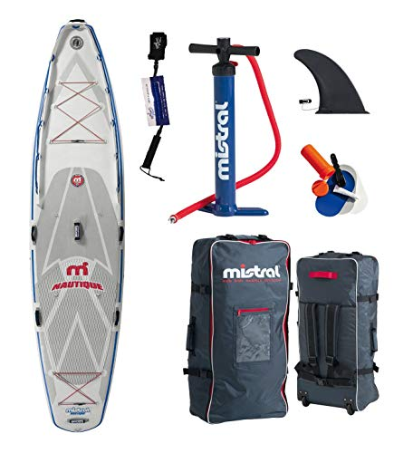 Mistral Nautique 11'5 Superlight Woven-Fusion Layer Technology, Standup Paddel Board Gonfiabile con SUPwave.de Coil-Leash, Stand up Paddle Board iSUP