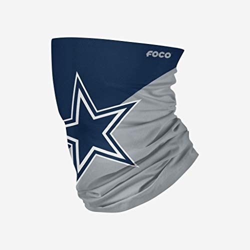 NFL FOCO Dallas Cowboys Neck Gaiter, Youth, Team Color
