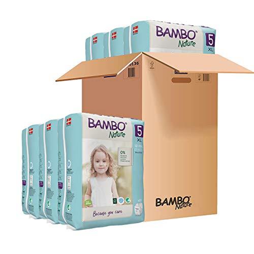 Pañales Bambo Nature Talla 5 – 12 a 18kg (PACK 6 x 22UN)