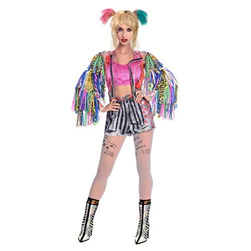 amscan Erwachsene Damen Bop Harley Quinn Kostüm (UK Kleid Größe: 8 -10)