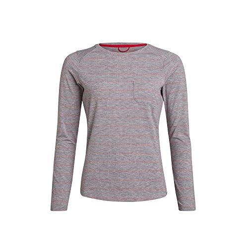 Berghaus Explorer Optic T-Shirt Technique à Manches Courtes pour Femme L Brume de Port/Cayenne.