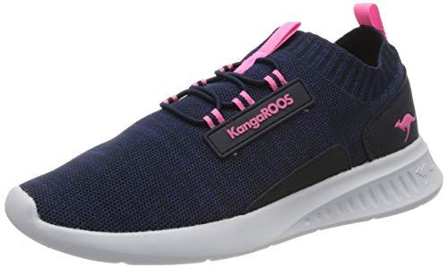 KangaROOS KL-Bash Unisex-Kinder Sneaker, Blau (Dark Navy/Daisy Pink 4204), 36 EU