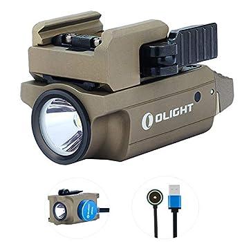 Olight PL-MINI 2 Valkyrie Lampe Torches 600 lumens/ 100 meters CW Lampe Rechargeable Militaire Tactique, avec étui de batterie Tidusky (Désert Bronzer)