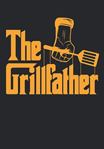 Notizbuch A5 dotted, gepunktet mit Softcover Design: Grillfather Männer Grill Geschenk Grillmeister Papa Vater: 120 dotted (Punktgitter) DIN A5 Seiten