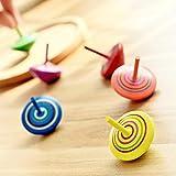ZOEON 30 Stück Spielzeugkreisel aus Holz, Farbenfroher Bemalung Kreisel aus Holz für Kinder - 6
